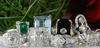 antique estate vintage filigree diamond engagement wedding jewelry rings