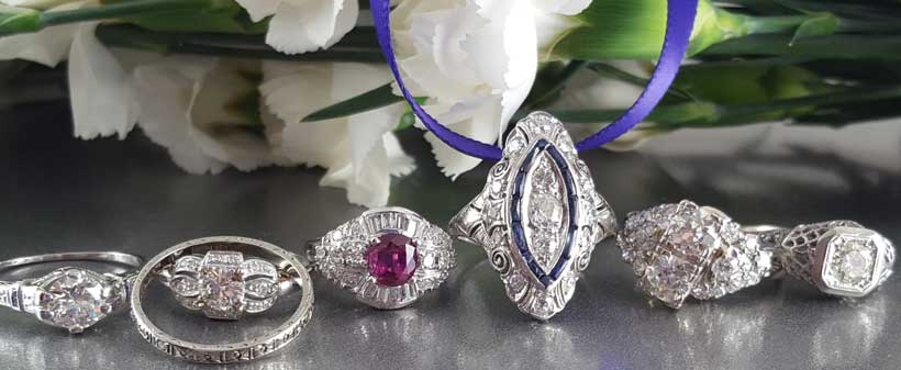 estate jewelry and antique wedding rings