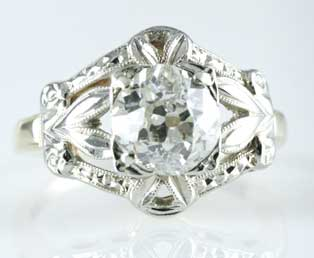 Antique European Diamond Wedding Ring