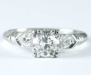 VVS2 European Diamond Engagement Ring