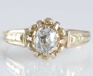 Old Mine Antique Wedding Ring