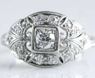 Art Deco Wedding Ring 5781