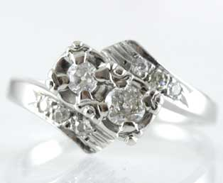 Art Deco Two Diamond Ring