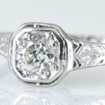 Antique Wedding Ring Solitaire