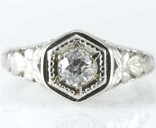 Filigree Antique Wedding Ring