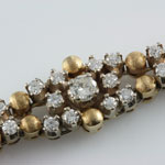 Estate Diamond Yellow Gold Bracelet