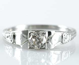 Small Estate Diamond Engagement Ring