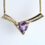 Amethyst Diamond Pendant Necklace