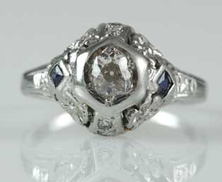 Estate Floral Wedding Ring