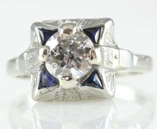 Art Deco Engagement Ring 1443