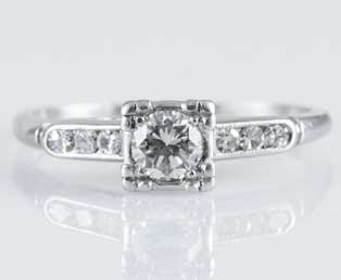 Diamond Estate Engagement Ring