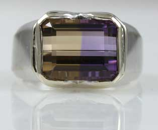 Vintage Ametrine White Gold Ring