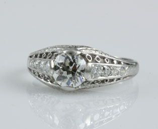 Antique Diamond Platinum Wedding Ring