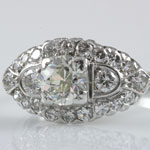 Ladies Old European Wedding Ring