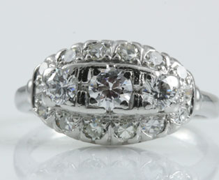 Platinum Old European Wedding Ring
