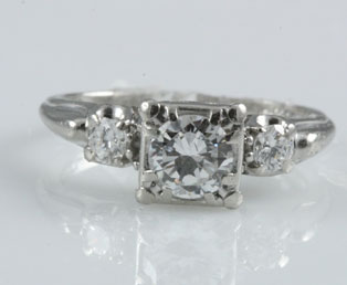 Jabel Diamond Platinum Wedding Ring