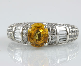 2ct Yellow Sapphire Diamond Ring