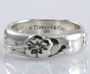 Tiffany Silver Flower Ring
