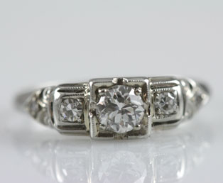 Old European Diamond Wedding Ring