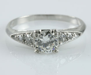 1930s Old European Engagement Ring