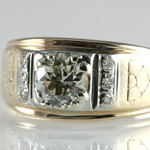 Old European Diamond Gold Ring