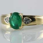 Vintage Emerald Gold Ring
