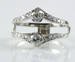 estate diamond wedding ring guard - Wedding Ring Guard