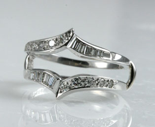 vintage diamond wedding ring guard - Wedding Ring Guard