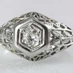 Ladies Filigree Wedding Ring