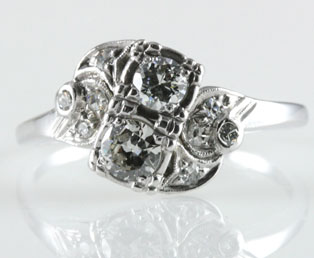 Dainty 1930s Diamond Ring