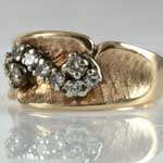 Estate Gold Diamond Band