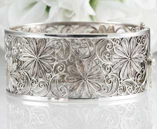 Estate Silver Filigree Bracelet