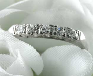 Diamond Platinum Wedding Ring Band