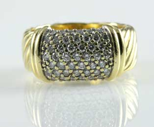 Diamond Pave Cable Ring