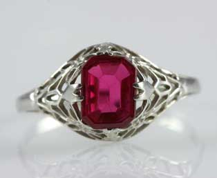 Ruby Gold Filigree Ring
