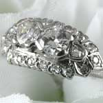 Ladies Twin Diamond Engagement Ring