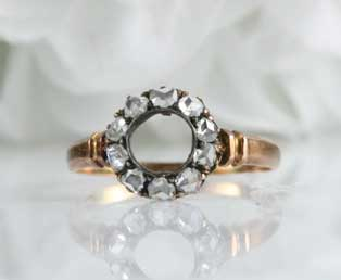 Antique Diamond Ring Setting