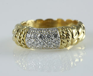 Diamond Pavé Gold Ring