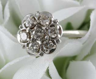 Vintage Flower Basket Engagement Ring