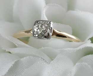 Old Diamond Engagement Ring