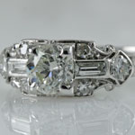Ladies Art Deco Engagement Ring