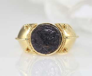 Ancient Coin Gold Ring