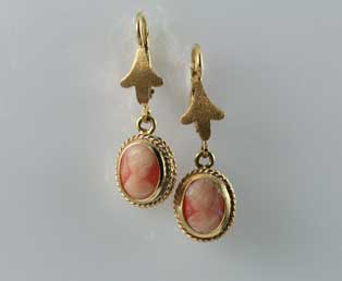 Estate Corletto Cameo Earrings