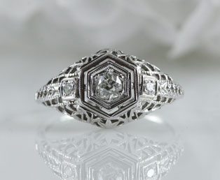 Old Mine Engagement Ring