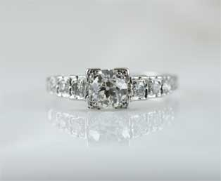 Art Deco Tiered Engagement Ring