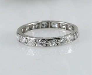 Estate Diamond Eternity Wedding Band