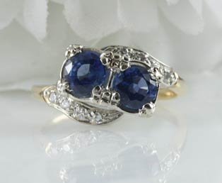 Double Sapphire Estate Ring