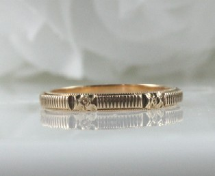 Engraved Gold Wedding Band