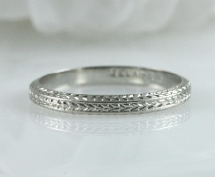 Belais Engraved Wedding Band