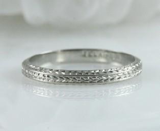 Engraved Wedding Band Diana
